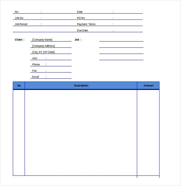 Invoice Format Template 39 Free Word PDF Documents Download – Format of Invoice in Word