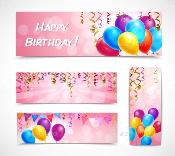 birthday celebration banners set template