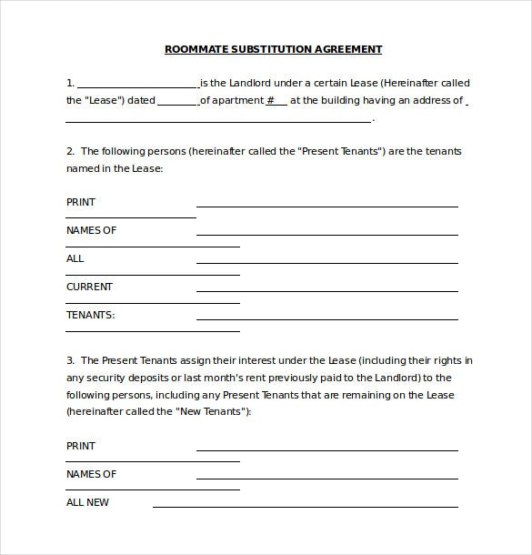 Roommate agreement template 11 free word pdf document for Roommate agreement template free