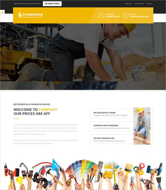 handyman services drupal website theme