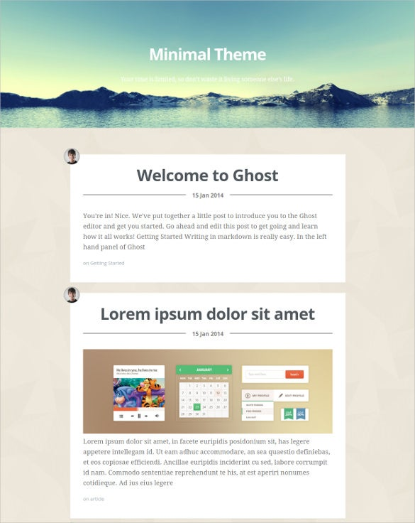 Html 5 blog website templates themes free premium for Create blog page template wordpress