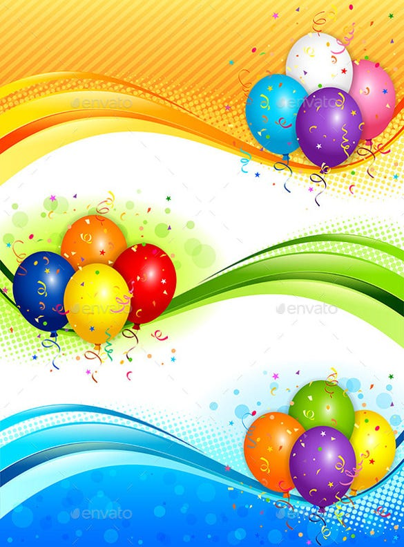 colorful background birthday banner template