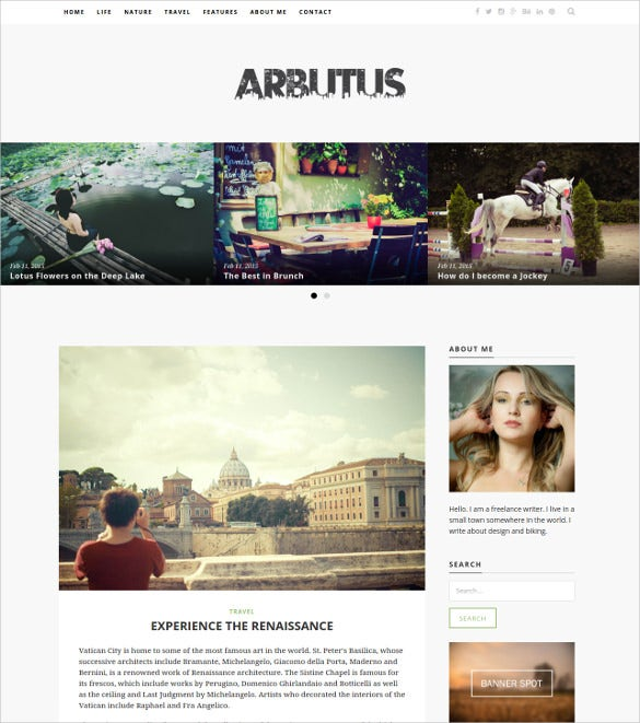 responsive html5 blog template