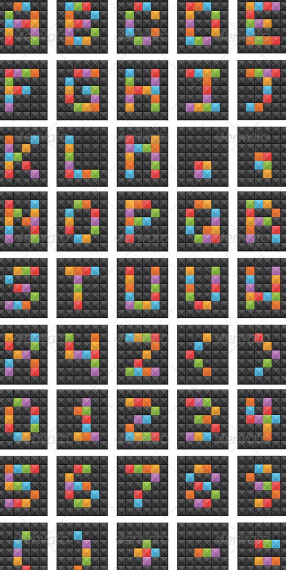 square vector alphabet vector eps