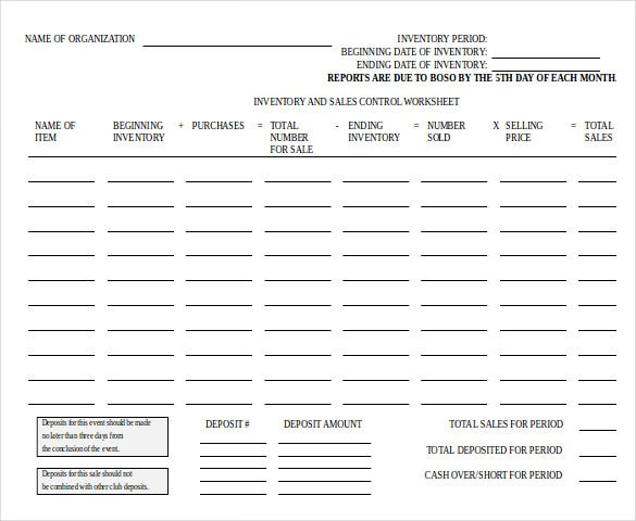organizatioinventory control document