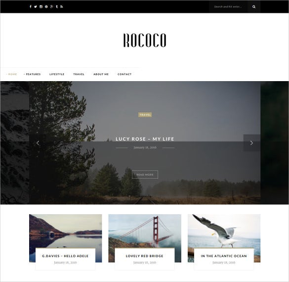 personal photography wordpress blog theme