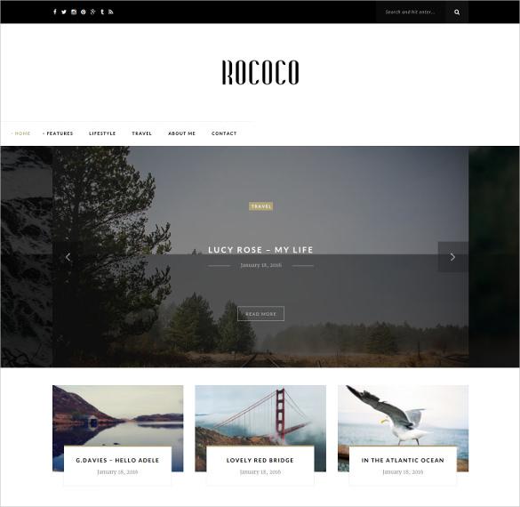 personal photography wordpress blog theme