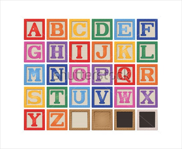 letter blocks template