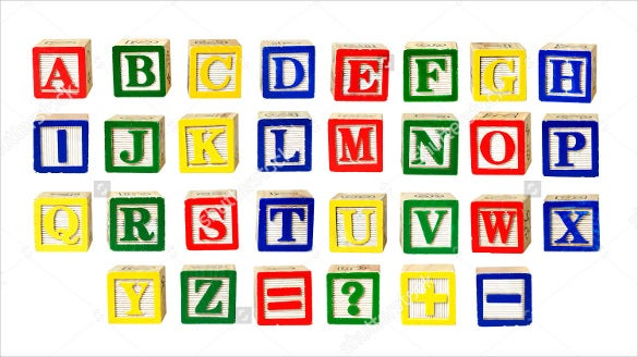 toy letters alphabet squares isolated on white download