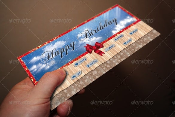 colorful birthday coupon template