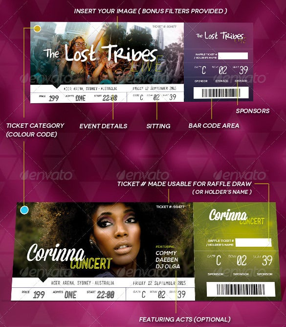 Ticket Templates – 99+ Free Word, Excel, PDF, PSD, EPS Formats ...
