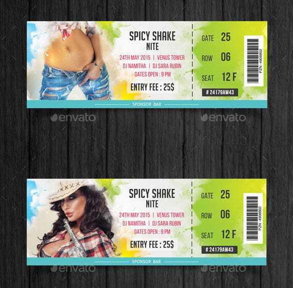 Template For Making Tickets 40 Free Editable Raffle Movie – Template for Making Tickets