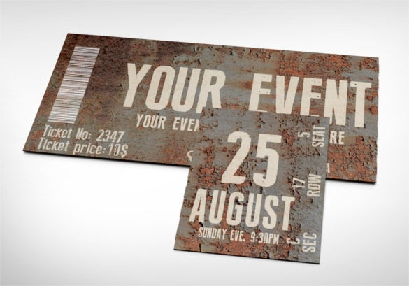 Doc500231 Printable Event Tickets Template Free Free – Free Ticket Template Printable