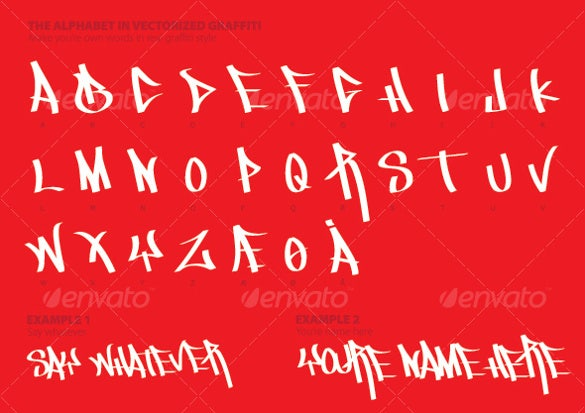 the alphabet in graffiti styletemplate download