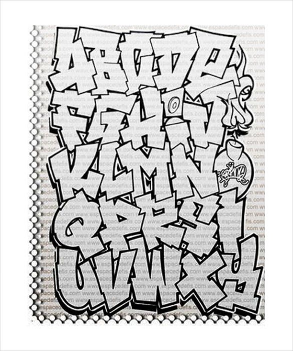 graffiti letters template 6