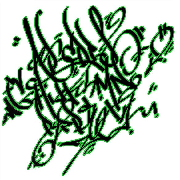 graffiti letter alphabet template 7