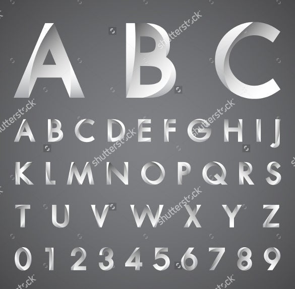 alphabetic cool lettres font and numbers