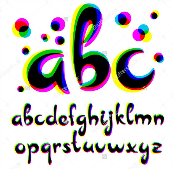 vector alphabet cool vector letter font