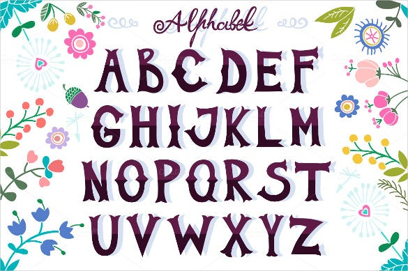 alphabet cool letters template download