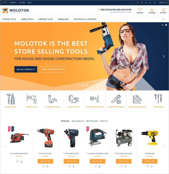 molotok power tools prestashop ecommerce theme