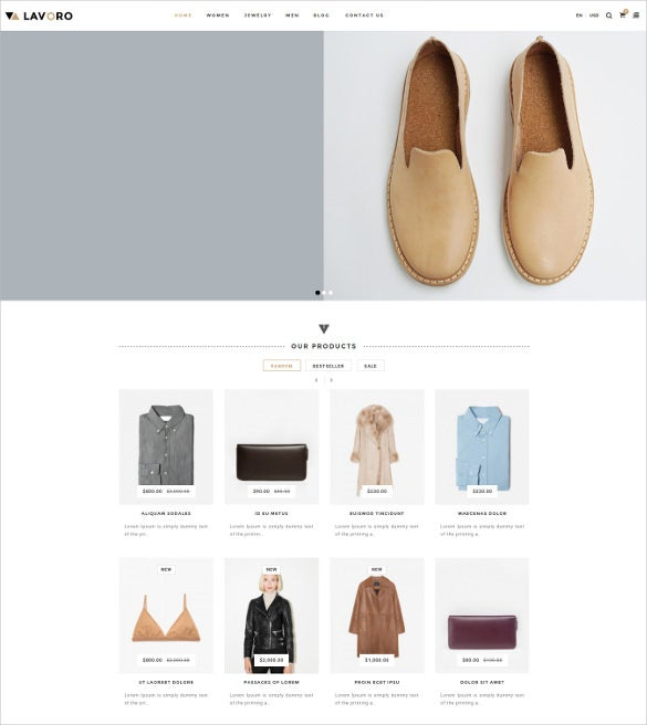 lavoro fashion shop responsive opencart ecommerce theme