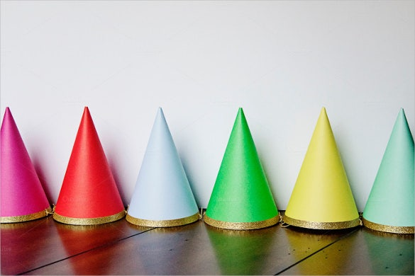 easy to print birthday party hats template