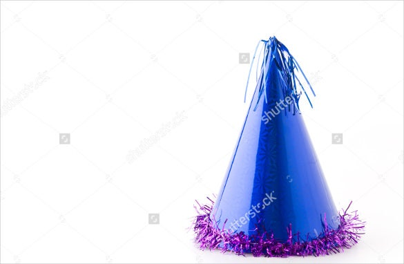 attractive blue color birthday party hat download