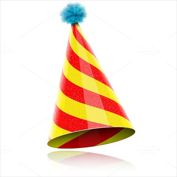 colorful glossy birthday hat for celebration