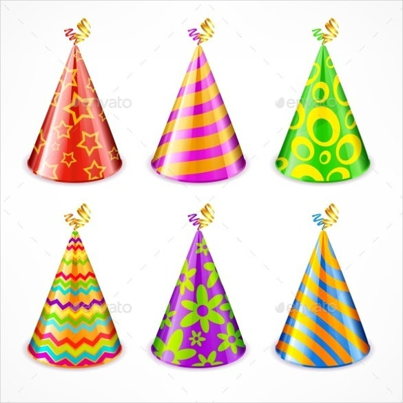set of birthday party hats free download