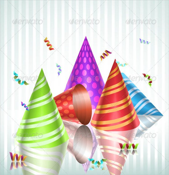 multipurpose birthday party hats template