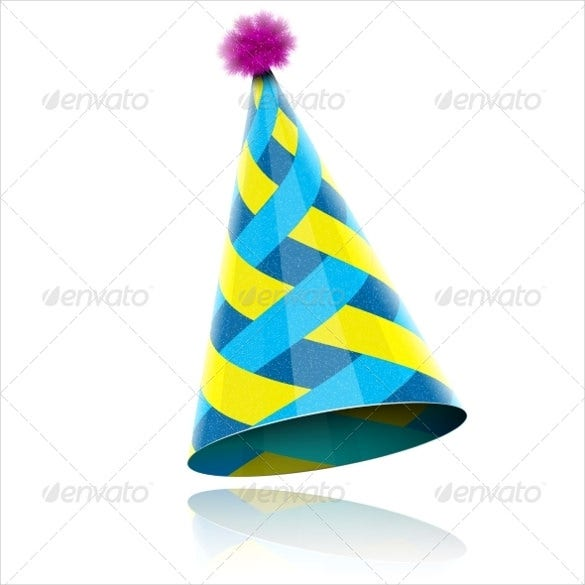 glossy cone like hat for birthday celebration
