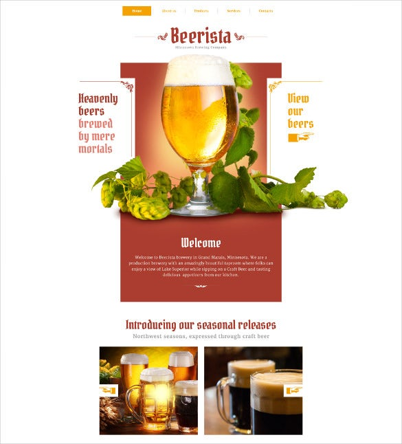 beerista html5 website template