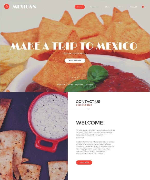 mexican html5 website template
