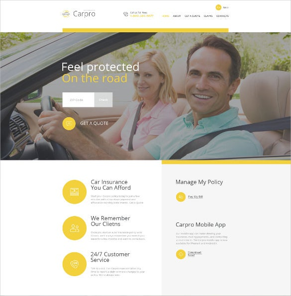 carpro html5 website template