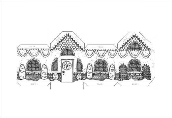winter time paper house template free pdf format