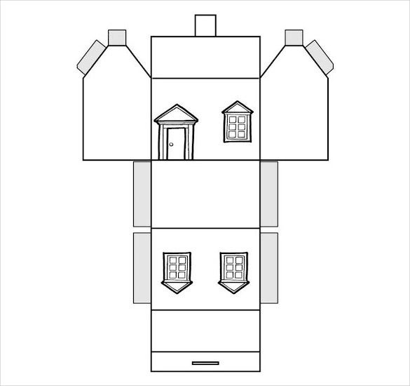 Beautiful Paper House Template