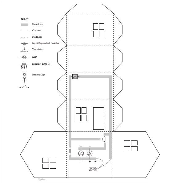 Paper House Template In Pdf Format