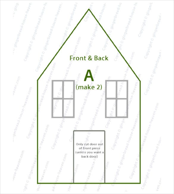 Paper House Template. Paper House Luminaries Printable Template ...