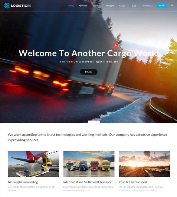 logistic69 logistics transportation html5 wordpress theme