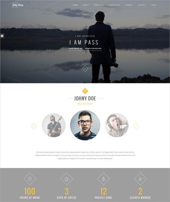 mepro creative personal portfolio html5 wordpress theme