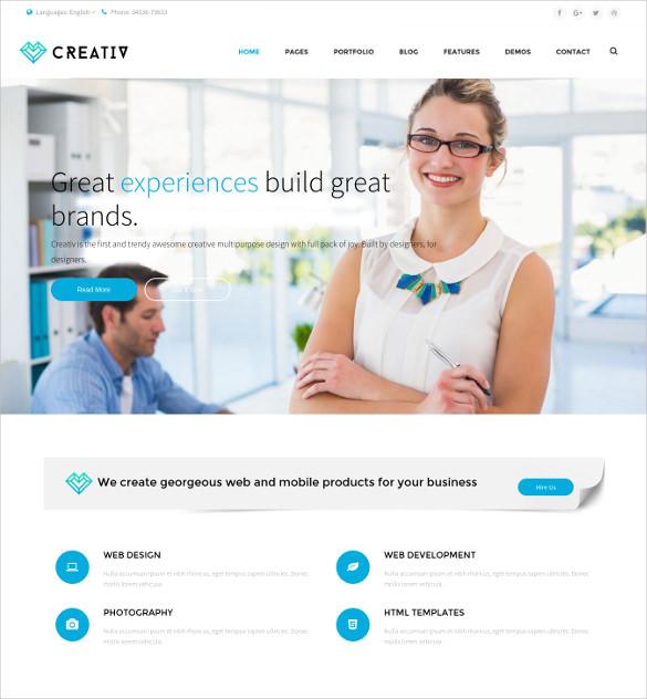 creativ multi concept business html5 wordpress theme