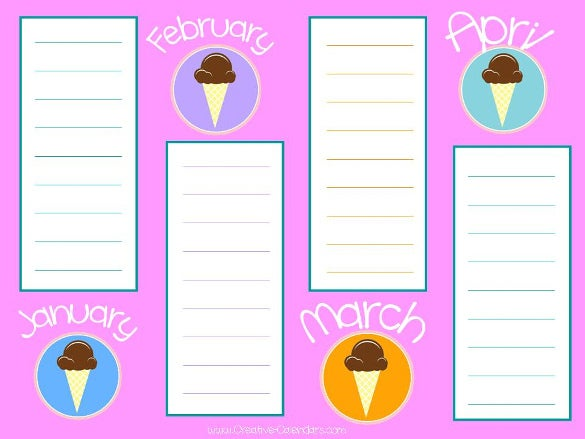 ready to print birthday list template