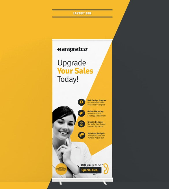 roll up banner ad template free download