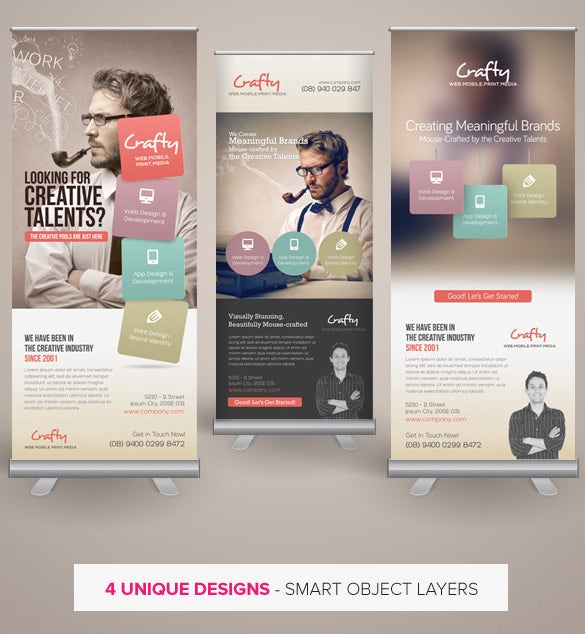 creative design agency roll up banners template download