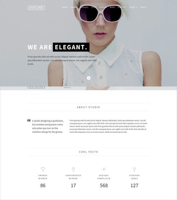 outline creative html5 wordpress theme