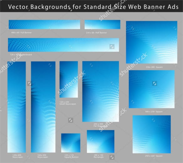 creative abstract blue background web banner ads