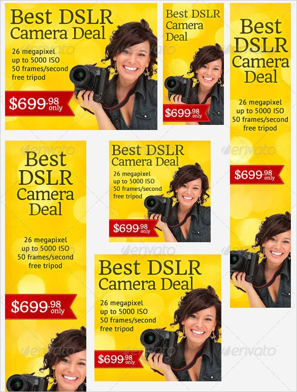 download premium digital camera banner ad template