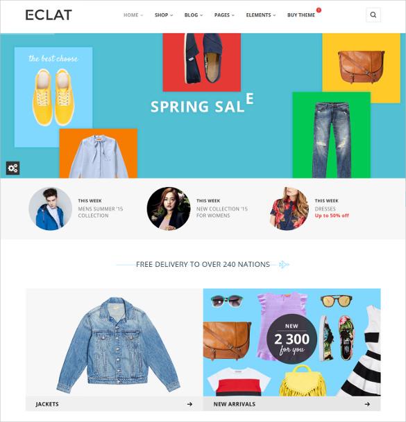 eclat responsive multipurpose html5 woocommerce theme