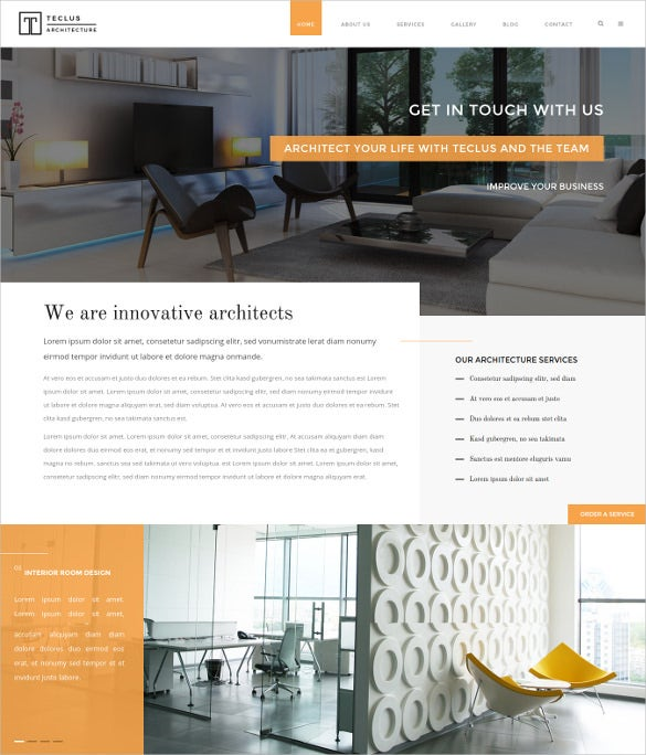 teclus architecture renovation html5 template