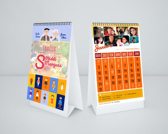 family birthday calendar with images